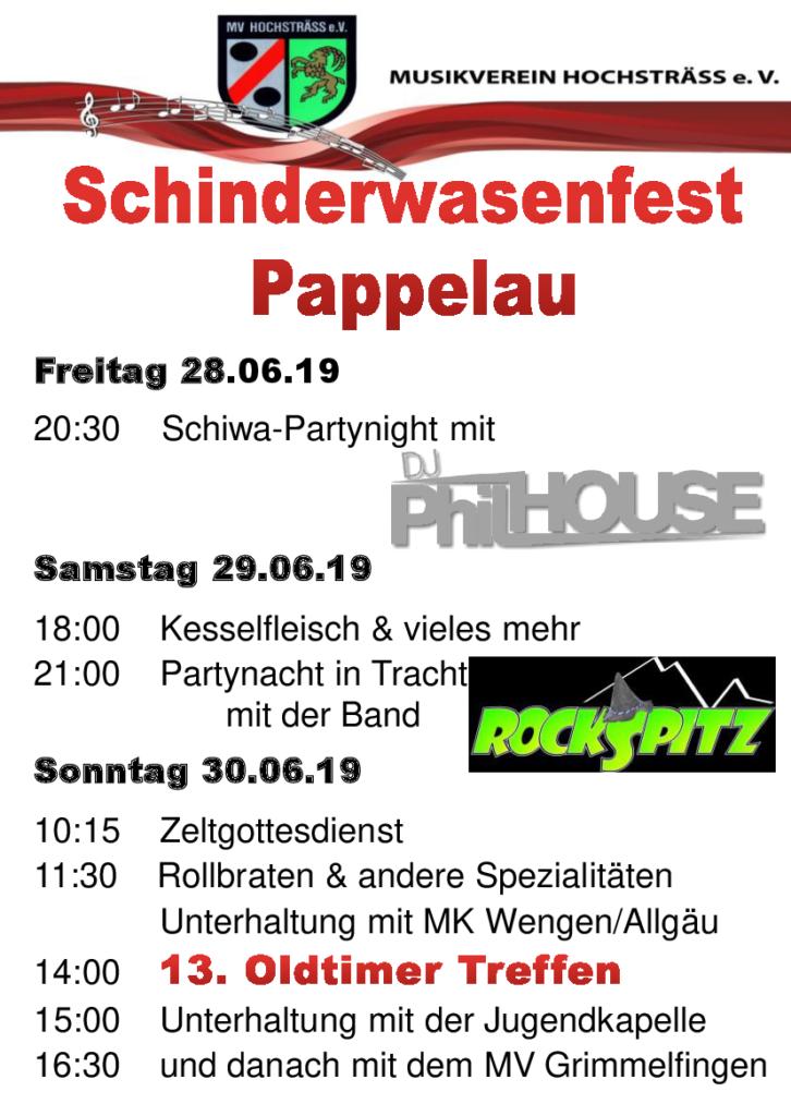 Schinderwasenfest 28.06.2019 – 30.06.2019