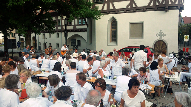 White Dinner in Blaubeuren 28.06.2019