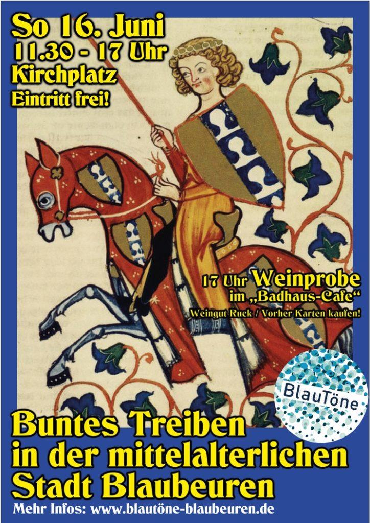 Buntes Treiben in der mittelalterlichen Stadt Blaubeuren