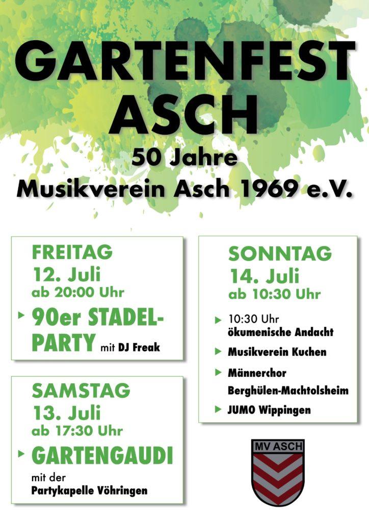 Gartenfest Asch vom 12.07.- 14.07.2019