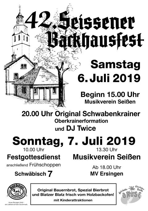 Seißen Backhausfest, 06.07.2019-07.07.2019