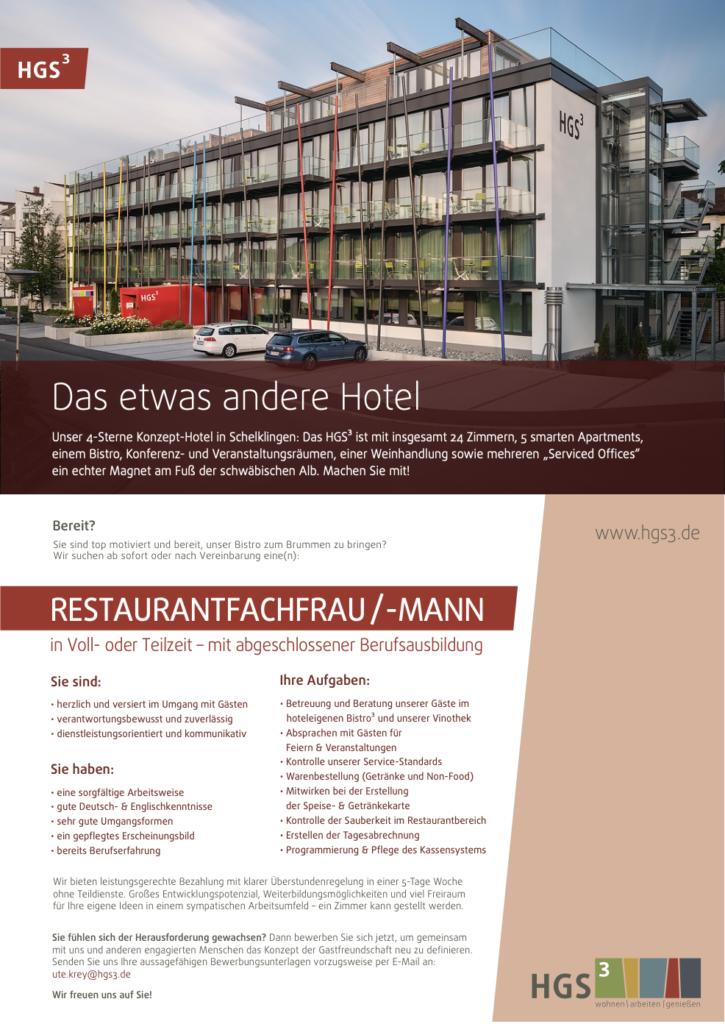 Restaurantfachfrau /-Mann