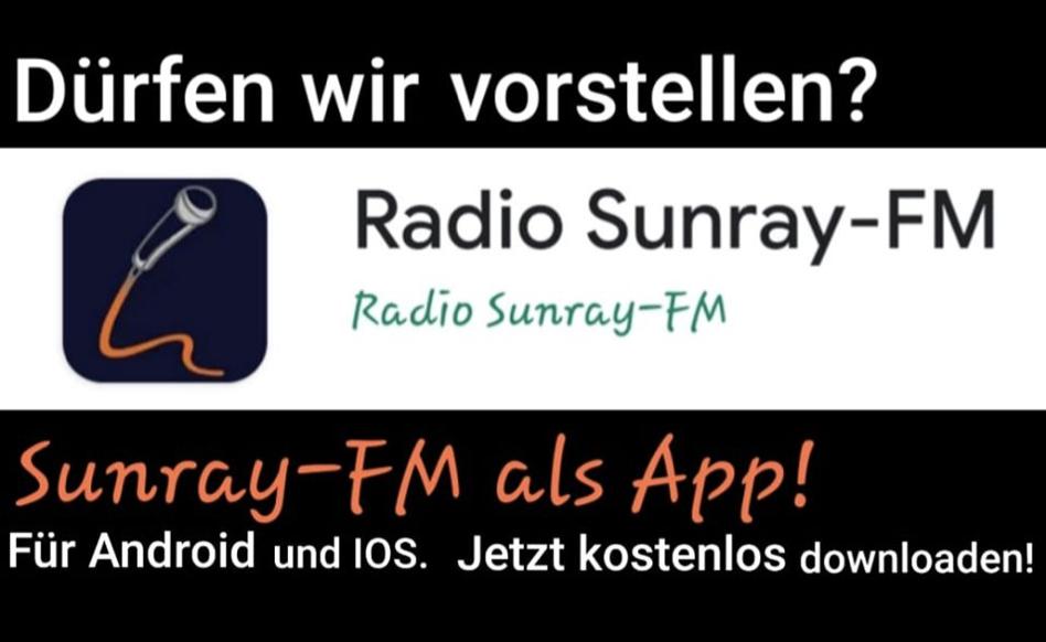 Die brandneuen Sunray-FM App's sind da….