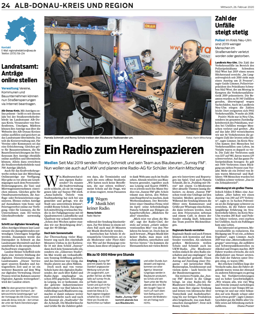 Radio zum Hereinspazieren