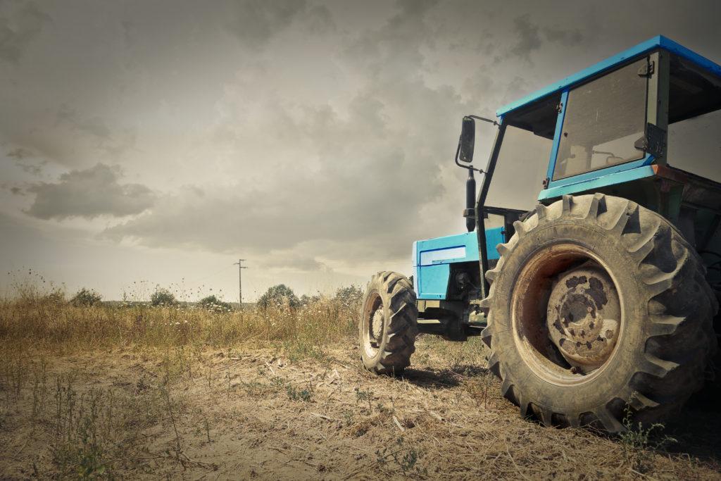 von eigenen Traktor überrollt