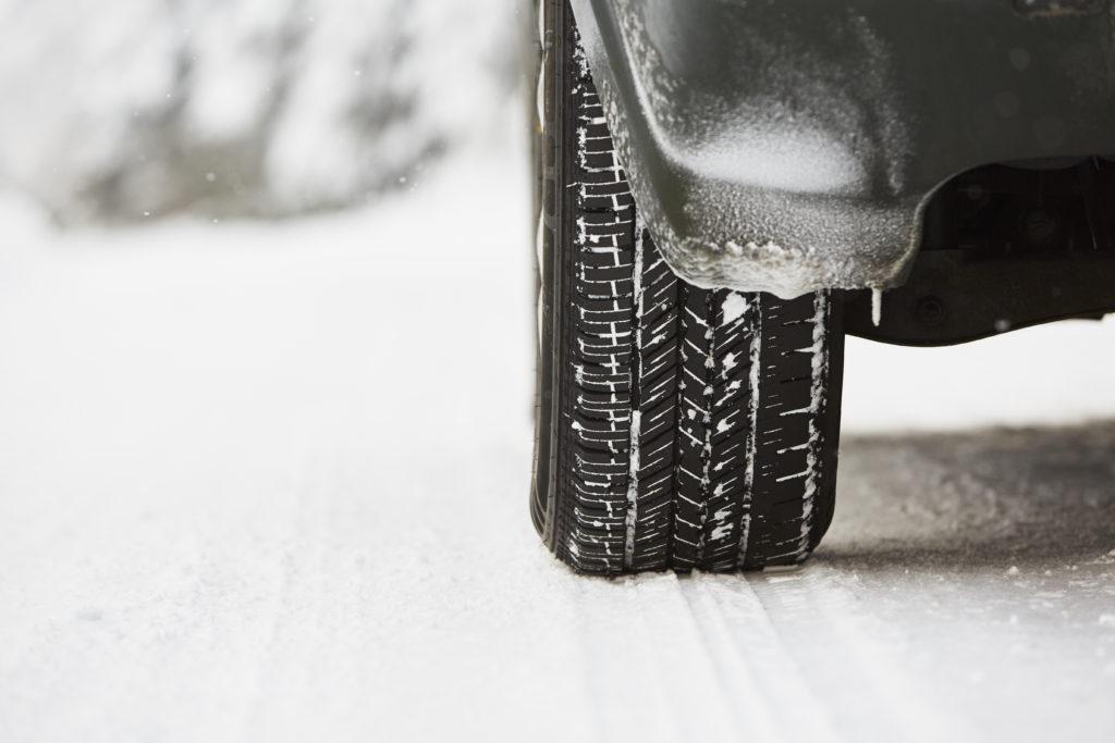 Unfall wegen Schneeglätte